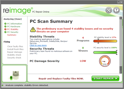 automatic fixing with reimage pc repair tool