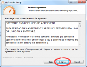 Read and accept the License Agreement.